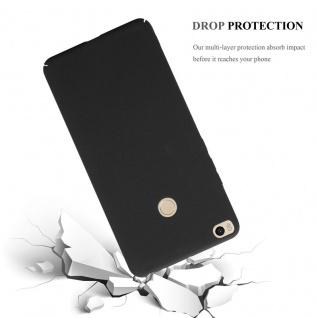 Cadorabo Hülle für Xiaomi Mi Max 2 in FROSTY SCHWARZ - Hardcase Handyhülle aus Plastik gegen Kratzer und Stöße - Schutzhülle Bumper Ultra Slim Back Case Hard Cover - Vorschau 3