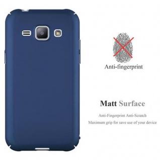 Cadorabo Hülle für Samsung Galaxy J1 2015 in METALL BLAU ? Hardcase Handyhülle aus Plastik gegen Kratzer und Stöße ? Schutzhülle Bumper Ultra Slim Back Case Hard Cover - Vorschau 2