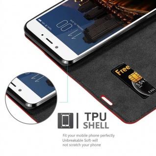 Cadorabo Hülle für ZTE Nubia N2 in APFEL ROT Handyhülle mit Magnetverschluss, Standfunktion und Kartenfach Case Cover Schutzhülle Etui Tasche Book Klapp Style - Vorschau 2