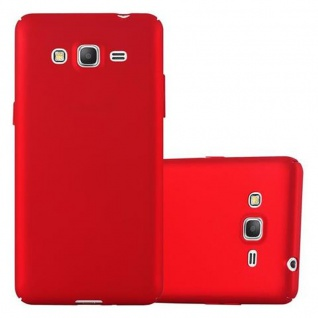 Cadorabo Hülle für Samsung Galaxy GRAND PRIME in METALL ROT - Hardcase Handyhülle aus Plastik gegen Kratzer und Stöße - Schutzhülle Bumper Ultra Slim Back Case Hard Cover