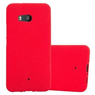 Cadorabo Hülle für HTC OCEAN / U11 in FROST ROT - Handyhülle aus flexiblem TPU Silikon - Silikonhülle Schutzhülle Ultra Slim Soft Back Cover Case Bumper