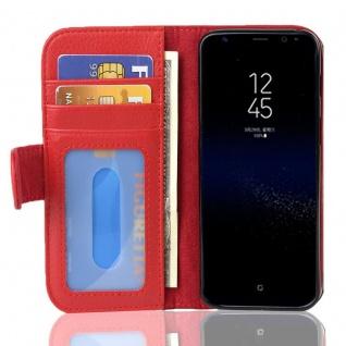 Cadorabo Hülle für Samsung Galaxy S8 PLUS in INFERNO ROT Handyhülle mit Magnetverschluss und 3 Kartenfächern Case Cover Schutzhülle Etui Tasche Book Klapp Style