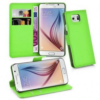 Cadorabo Hülle für Samsung Galaxy S6 in MINZ GRÜN Handyhülle mit Magnetverschluss, Standfunktion und Kartenfach Case Cover Schutzhülle Etui Tasche Book Klapp Style