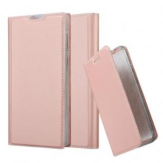 Cadorabo Hülle für Sony Xperia L1 in CLASSY ROSÉ GOLD - Handyhülle mit Magnetverschluss, Standfunktion und Kartenfach - Case Cover Schutzhülle Etui Tasche Book Klapp Style