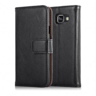 Cadorabo Hülle für Samsung Galaxy A3 2016 in GRAPHIT SCHWARZ - Handyhülle mit Magnetverschluss, Standfunktion und Kartenfach - Case Cover Schutzhülle Etui Tasche Book Klapp Style - Vorschau 2