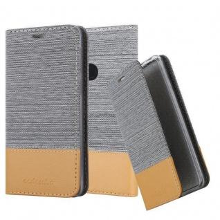 Cadorabo Hülle für Google Pixel 3 XL in HELL GRAU BRAUN Handyhülle mit Magnetverschluss, Standfunktion und Kartenfach Case Cover Schutzhülle Etui Tasche Book Klapp Style