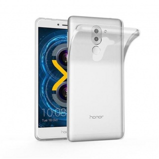 Cadorabo Hülle für Huawei MATE 9 LITE in VOLL TRANSPARENT - Handyhülle aus flexiblem TPU Silikon - Silikonhülle Schutzhülle Ultra Slim Soft Back Cover Case Bumper