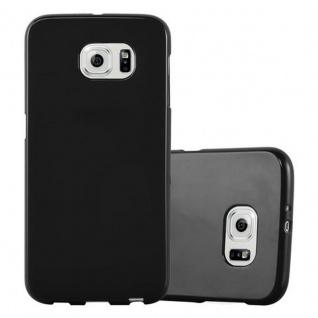 Cadorabo Hülle für Samsung Galaxy S6 in JELLY SCHWARZ ? Handyhülle aus flexiblem TPU Silikon ? Silikonhülle Schutzhülle Ultra Slim Soft Back Cover Case Bumper