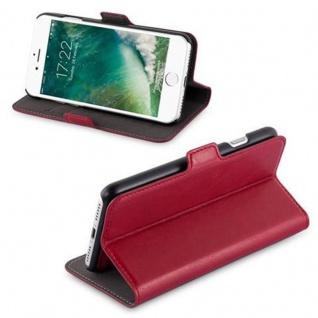 Cadorabo Hülle für Apple iPhone 7 / iPhone 7S / iPhone 8 - Hülle in GRANATAPFEL ROT ? Handyhülle im 2-in-1 Design mit Standfunktion und Kartenfach - Hard Case Book Etui Schutzhülle Tasche Cover - Vorschau 3