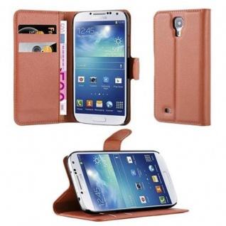 Cadorabo Hülle für Samsung Galaxy S4 in SCHOKO BRAUN Handyhülle mit Magnetverschluss, Standfunktion und Kartenfach Case Cover Schutzhülle Etui Tasche Book Klapp Style