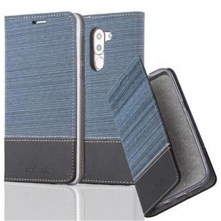 Cadorabo Hülle für Honor 6X in DUNKEL BLAU SCHWARZ - Handyhülle mit Magnetverschluss, Standfunktion und Kartenfach - Case Cover Schutzhülle Etui Tasche Book Klapp Style