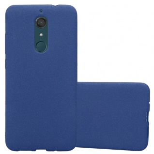 Cadorabo Hülle für WIKO VIEW XL in FROST DUNKEL BLAU Handyhülle aus flexiblem TPU Silikon Silikonhülle Schutzhülle Ultra Slim Soft Back Cover Case Bumper