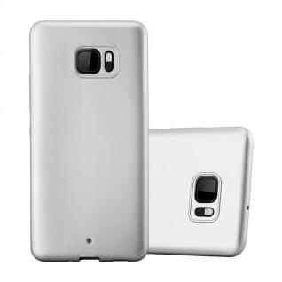 Cadorabo Hülle für HTC U ULTRA in METALLIC SILBER - Handyhülle aus flexiblem TPU Silikon - Silikonhülle Schutzhülle Ultra Slim Soft Back Cover Case Bumper
