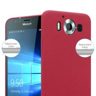 Cadorabo Hülle für Nokia Lumia 950 in FROSTY ROT - Hardcase Handyhülle aus Plastik gegen Kratzer und Stöße - Schutzhülle Bumper Ultra Slim Back Case Hard Cover - Vorschau 3