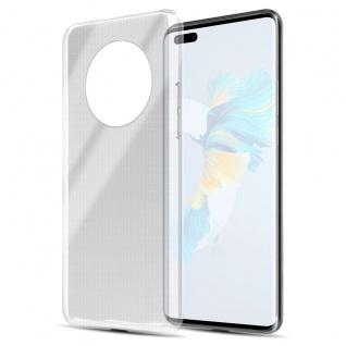 Cadorabo Hülle kompatibel mit Huawei Mate 40 Pro in VOLL TRANSPARENT Handyhülle aus flexiblem TPU Silikon Silikonhülle Schutzhülle Ultra Slim Soft Back Cover Case Bumper