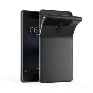 Cadorabo Hülle für Nokia 6 2017 in SCHWARZ - Handyhülle aus flexiblem TPU Silikon - Silikonhülle Schutzhülle Ultra Slim Soft Back Cover Case Bumper
