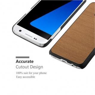 Cadorabo Hülle für Samsung Galaxy S7 in WOODY BRAUN ? Hardcase Handyhülle aus Plastik gegen Kratzer und Stöße ? Schutzhülle Bumper Ultra Slim Back Case Hard Cover - Vorschau 5