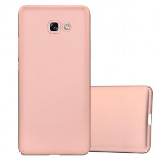 Cadorabo Hülle für Samsung Galaxy A7 2017 in METALL ROSÉ GOLD - Hardcase Handyhülle aus Plastik gegen Kratzer und Stöße - Schutzhülle Bumper Ultra Slim Back Case Hard Cover