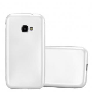 Cadorabo Hülle für Samsung Galaxy Xcover 4 in METALLIC SILBER - Handyhülle aus flexiblem TPU Silikon - Silikonhülle Schutzhülle Ultra Slim Soft Back Cover Case Bumper