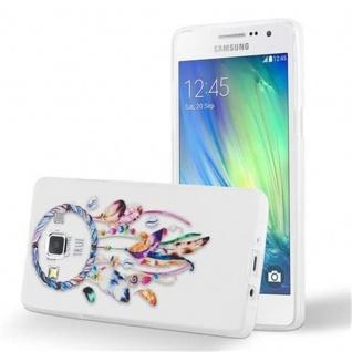 Cadorabo Hülle für Samsung Galaxy A3 2015 - Hülle im Design TRAUMFÄNGER 'Dreams come true' ? Handyhülle aus TPU Silikon mit Aufdruck - Silikonhülle Schutzhülle Ultra Slim Soft Back Cover Case Bumper