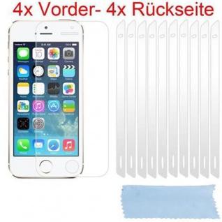 Cadorabo Displayschutzfolien für Apple iPhone 5 / 5S - Schutzfolien in HIGH CLEAR ? 4x Front- und 4x Rückseiten Schutzfolie