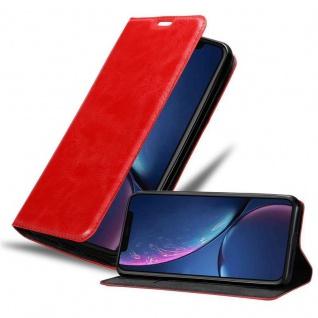 Cadorabo Hülle für Apple iPhone 11 PRO MAX (XI PRO MAX) in APFEL ROT - Handyhülle mit Magnetverschluss, Standfunktion und Kartenfach - Case Cover Schutzhülle Etui Tasche Book Klapp Style