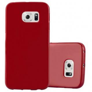 Cadorabo Hülle für Samsung Galaxy S6 EDGE in JELLY ROT ? Handyhülle aus flexiblem TPU Silikon ? Silikonhülle Schutzhülle Ultra Slim Soft Back Cover Case Bumper
