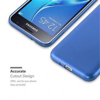 Cadorabo Hülle für Samsung Galaxy J1 2015 in METALLIC BLAU - Handyhülle aus flexiblem TPU Silikon - Silikonhülle Schutzhülle Ultra Slim Soft Back Cover Case Bumper - Vorschau 2