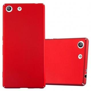 Cadorabo Hülle für Sony Xperia M5 - Hülle in METALL ROT ? Hardcase Handyhülle im Matt Metal Design - Schutzhülle Bumper Back Case Cover