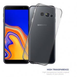 Cadorabo Hülle für Samsung Galaxy J4 PLUS in VOLL TRANSPARENT - Handyhülle aus flexiblem TPU Silikon - Silikonhülle Schutzhülle Ultra Slim Soft Back Cover Case Bumper - Vorschau 5