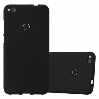 Cadorabo Hülle für Huawei P8 LITE 2017 in FROST SCHWARZ - Handyhülle aus flexiblem TPU Silikon - Silikonhülle Schutzhülle Ultra Slim Soft Back Cover Case Bumper