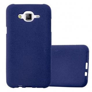 Cadorabo Hülle für Samsung Galaxy J7 2015 in FROST DUNKEL BLAU - Handyhülle aus flexiblem TPU Silikon - Silikonhülle Schutzhülle Ultra Slim Soft Back Cover Case Bumper