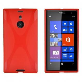 Cadorabo Hülle für Nokia Lumia 1020 in INFERNO ROT - Handyhülle aus flexiblem TPU Silikon - Silikonhülle Schutzhülle Ultra Slim Soft Back Cover Case Bumper