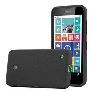 Cadorabo Hülle für Nokia Lumia 630 in FROST SCHWARZ - Handyhülle aus flexiblem TPU Silikon - Silikonhülle Schutzhülle Ultra Slim Soft Back Cover Case Bumper
