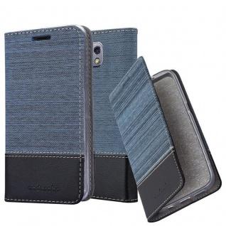 Cadorabo Hülle für LG X CAM in DUNKEL BLAU SCHWARZ - Handyhülle mit Magnetverschluss, Standfunktion und Kartenfach - Case Cover Schutzhülle Etui Tasche Book Klapp Style