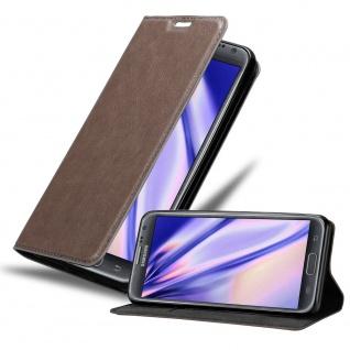 Cadorabo Hülle für Samsung Galaxy NOTE 2 in KAFFEE BRAUN Handyhülle mit Magnetverschluss, Standfunktion und Kartenfach Case Cover Schutzhülle Etui Tasche Book Klapp Style