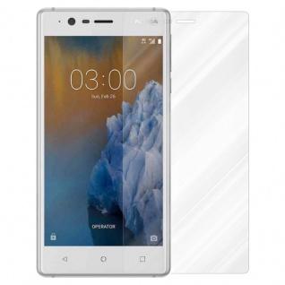 Cadorabo Panzer Folie für Nokia 3 2017 - Schutzfolie in KRISTALL KLAR - Gehärtetes (Tempered) Display-Schutzglas in 9H Härte mit 3D Touch Kompatibilität - Vorschau 2