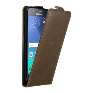 Cadorabo Hülle für Samsung Galaxy J5 2015 in KAFFEE BRAUN - Handyhülle im Flip Design mit unsichtbarem Magnetverschluss - Case Cover Schutzhülle Etui Tasche Book Klapp Style