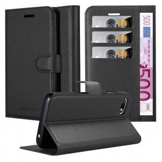 Cadorabo Hülle für WIKO SUNNY 3 in PHANTOM SCHWARZ - Handyhülle mit Magnetverschluss, Standfunktion und Kartenfach - Case Cover Schutzhülle Etui Tasche Book Klapp Style