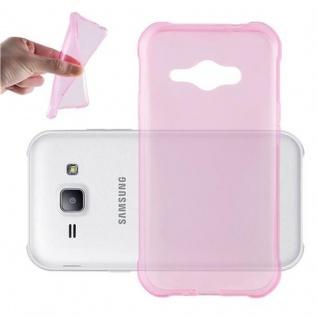 Cadorabo Hülle für Samsung Galaxy J1 ACE in TRANSPARENT PINK - Handyhülle aus flexiblem TPU Silikon - Silikonhülle Schutzhülle Ultra Slim Soft Back Cover Case Bumper