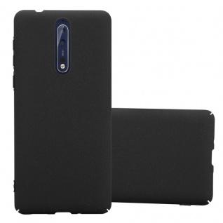 Cadorabo Hülle für Nokia 8 2017 in FROSTY SCHWARZ - Hardcase Handyhülle aus Plastik gegen Kratzer und Stöße - Schutzhülle Bumper Ultra Slim Back Case Hard Cover