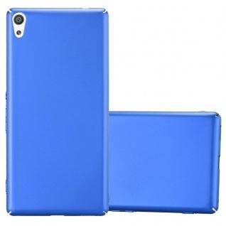 Cadorabo Hülle für Sony Xperia XA ULTRA in METALL BLAU - Hardcase Handyhülle aus Plastik gegen Kratzer und Stöße - Schutzhülle Bumper Ultra Slim Back Case Hard Cover