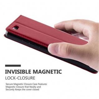 Cadorabo Hülle für Huawei P8 LITE 2015 in APFEL ROT - Handyhülle mit Magnetverschluss, Standfunktion und Kartenfach - Case Cover Schutzhülle Etui Tasche Book Klapp Style - Vorschau 5