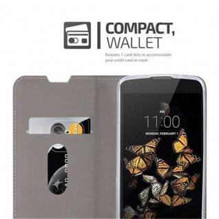 Cadorabo Hülle für LG K8 2016 in GRAU SCHWARZ - Handyhülle mit Magnetverschluss, Standfunktion und Kartenfach - Case Cover Schutzhülle Etui Tasche Book Klapp Style - Vorschau 3