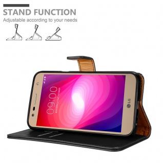 Cadorabo Hülle für LG X Power 2 in GRAPHIT SCHWARZ - Handyhülle mit Magnetverschluss, Standfunktion und Kartenfach - Case Cover Schutzhülle Etui Tasche Book Klapp Style - Vorschau 4