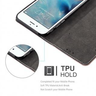 Cadorabo Hülle für Apple iPhone 6 PLUS / iPhone 6S PLUS in ROSÉ GOLD SCHWARZ ? Handyhülle mit Magnetverschluss, Standfunktion und Kartenfach ? Case Cover Schutzhülle Etui Tasche Book Klapp Style - Vorschau 5