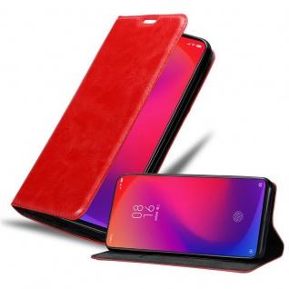 Cadorabo Hülle für Xiaomi RedMi K20 / Mi 9 T in APFEL ROT - Handyhülle mit Magnetverschluss, Standfunktion und Kartenfach - Case Cover Schutzhülle Etui Tasche Book Klapp Style