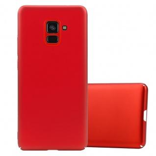 Cadorabo Hülle für Samsung Galaxy A8 2018 in METALL ROT Hardcase Handyhülle aus Plastik gegen Kratzer und Stöße Schutzhülle Bumper Ultra Slim Back Case Hard Cover