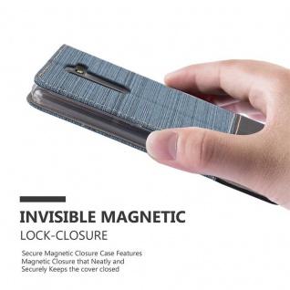 Cadorabo Hülle für LG STYLUS 2 in DUNKEL BLAU SCHWARZ - Handyhülle mit Magnetverschluss, Standfunktion und Kartenfach - Case Cover Schutzhülle Etui Tasche Book Klapp Style - Vorschau 4