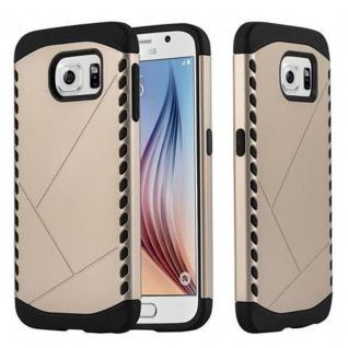 Cadorabo Hülle für Samsung Galaxy S6 - Hülle in GUARDIAN GOLD - Hard Case TPU Silikon Schutzhülle für Hybrid Cover im Outdoor Heavy Duty Design